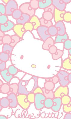 Image via we heart it hello kitty lover детс Walpaper Hello Kitty, Hello Kitty Art, Hello Kitty Pictures, Hello Kitty Wallpaper, Sanrio Hello Kitty, Kitty Cam, Sanrio Wallpaper, Kawaii Wallpaper, Naruto The Last