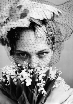 Sasha Pivovarova by Arthur Elgort Vogue US