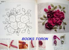 Silk Ribbon Embroidery Instructions | Ribbon Embroidery Japanese Craft Pattern Book 453 | eBay