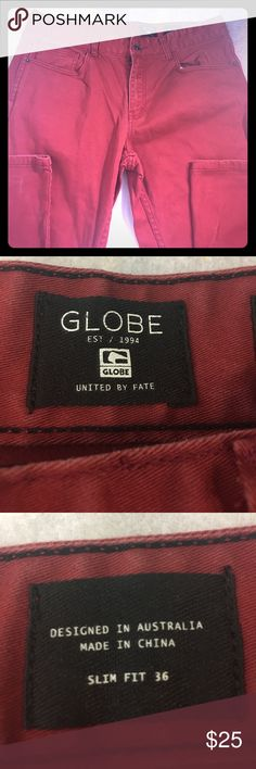 Globe Brand Men's Slim Fit Jeans Globe brand Men's Jeans Slim fit with pockets Globe Jeans Slim Straight