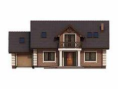 Projekt domu Dudek 4 - elewacje Home Fashion, House Styles, Projects, Home Decor, Houses, Home, House Ideas Exterior, Log Projects, Blue Prints
