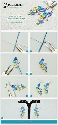 Boucles d'oreilles en fil coloré Juste avec quelques matériaux simples, vous pouvez faire une paire de boucles d'oreilles en fil coloré. Suivez-moi pour découvrir la manière magique!