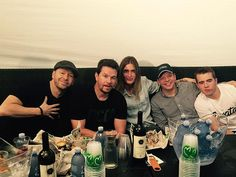MARK WAHLBERG   The family that eats burgers together, stays together … that's how the saying goes, right? Mark and his wife, Rhea, joined big bros Donnie and chef Paul for the opening of the family burger joint Wahlburgers on Coney Island.