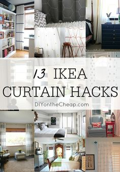 13 DIY IKEA Curtain Hacks: Window Coverings on a Budget - DIY on the Cheap