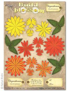 Decoupage A4 Sheet - Build A Blossom, Chrysanthemum - £0.49 : Card Making + Scrapbooking Craft Supplies