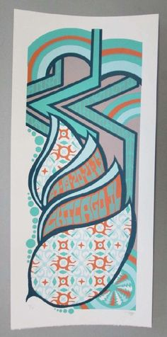 Original silkscreen concert poster for Phish on July 19th, 20th and 21st at Northerly Island in Chicago, IL in 2013. It is printed on Watercolor Paper with Acrylic Inks and measures around 10 x 22.  Print is signed and numbered out of only 80 by the artist Tripp.