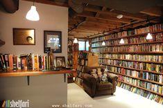 Neil Gaiman's home library.
