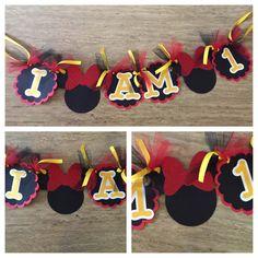 I am one Minnie Birthday Banner by ACuteCreation on Etsy