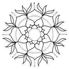 Visita la entrada para saber más Mandala Art, Mandala Painting, Mandala Pattern, Zentangle Patterns, Dot Painting, Embroidery Patterns, Mosaic Garden Art, Trippy Drawings, Cd Crafts