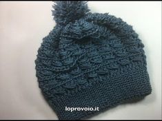 """Cappello all'uncinetto """"punto barretta"""" - YouTube Crochet Stitches, Knit Crochet, Crochet Patterns, Crochet Hats, Cowl Scarf, Shawl, 3d Pattern, Knitting Videos, Special Gifts"""