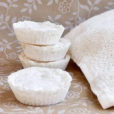 DIY Vicks Shower Pucks!!! ~ put theses in the bottom of your shower when your sick and let them melt away while you have a hot shower. Leaves you feeling less stuffy and helps to clear up colds faster. Click the picture for printable instructions!