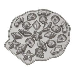 Nordic Ware Platinum Collection Sea Shell Teacakes Pan - For making you own chocolate shells as favors! Cooking Gadgets, Kitchen Gadgets, Cooking Utensils, Kitchen Tools, Baking Supplies, Baking Tools, Cake Supplies, Nordic Ware, Candy Molds