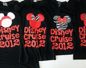 Disney Cruise shirt - baby, toddler, tween, adult t-shirt  Minnie or Mickey Mouse personalized date applique sizes 12m - 16 adult XS - XXL