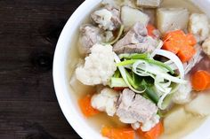 Recipe: Vietnamese Pork Spare Rib Soup with Potatoes, Carrots and Cauliflower