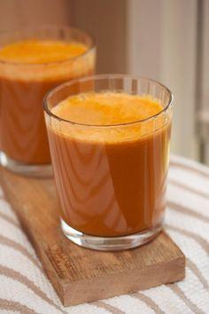 Immunity Juice - 2 celery stalks, 2 carrots, 1 garlic clove, 1 apple, ginger, 1/2 lemon