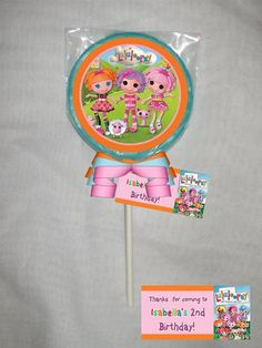 La La Loopsy Personalized Chocolate Lollipop or Cookie Favor