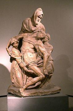 La Pietà dell'Opera del Duomo - Miguel Ángel - 1550 - Alto Renacimiento Italiano - Escultura en mármol
