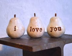Valentines Day gift  i love you Three handmade by SkyeArt on Etsy, $32.00