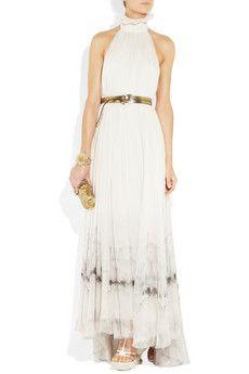 Alexander McQueen Backless silk-chiffon gown