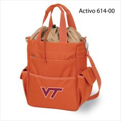 VIRGINIA TECH .. This waterproof tote has a fully insulated compartment that provides plenty of room for your food and drink items. The Activo is ideal for the beach, sporting events, or long trips in the car. It can also be used for transporting cold items to and from parties, or frozen goods home from the store. Spacious pockets provide additional storage and convenience. $39.95