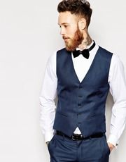 Selected Tuxedo Vest In Skinny Fit