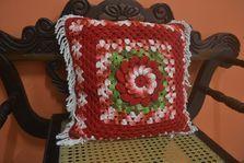 Natal - Almofada Vermelha Mesclada