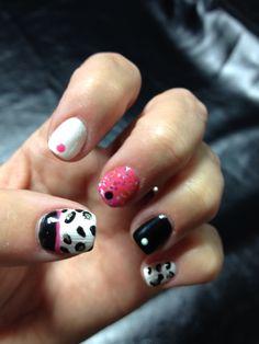 Fun Leopard Gel Polish Nail Art