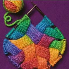 """Ooh entrelac """"from Entrelac 2 Knap hoor."""", """"Entrelac 2 by Sixth&Spring Books - issuu"""", """"from Entrelac 2 Don't know how to knit yet,but this is a goal Knitting Stitches, Knitting Yarn, Free Knitting, Knitting Videos, Yarn Projects, Knitting Projects, Crochet Projects, Stitch Patterns, Knitting Patterns"""