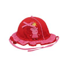 Sombrero niña baby Peppa Pig (T.42-44-46) rojo