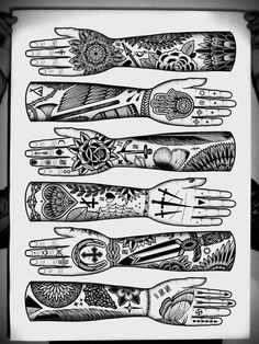 hands * Arielle Gabriel who gives free travel advice at The China Adventures of Arielle Gabriel writes of mystical experiences during her financial disasters in The Goddess of Mercy & The Dept of Miracles including the opening of her heart chakra * 4 Tattoo, Hand Tattoos, Sleeve Tattoos, Sugar Tattoo, Hand Art, Traditional Tattoo, Traditional Flash, Tattoo Inspiration, Tarot