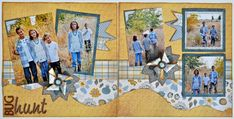 "5 photo  Great use of colors to make the pictures pop. (""Darling layout by Susan Budge using @Carrie Mcknelly Kwinter Lane Designer Templates."")"