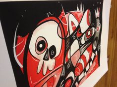 Little Devil Party, Modernist, Hipster, Folk Art, Screen Print