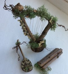 Fairy's Work by Olive* Miniatures ~ Fairy Instruments ~ English Cittern Handcrafted by Olive