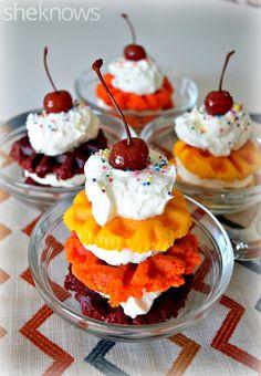 Sugar Swings! Serve Some: Waffled Cupcake Stacks