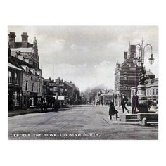 Shop Old Postcard - Enfield, London created by Personalise it with photos & text or purchase as is! Vintage London, Old London, Enfield Town, Local History, Family Memories, Old Postcards, Old Photos, The Past