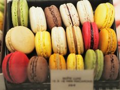 colourful macaroons from Angelina in Paris