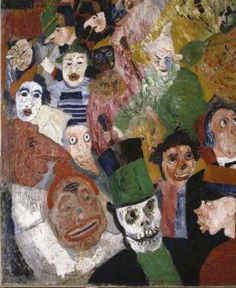 James Ensor - Christ's Entry Into Brussels (detail), 1889