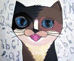 ユニークな舌出しブラウンニャンコ Cat Paintings, Space Cat, My Works, Scooby Doo, Disney Characters, Fictional Characters, Disney Princess, Cats, Gatos