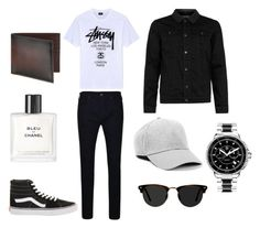 """""""Casual"""" by frederiquerokus on Polyvore featuring Topman, True Religion, Stussy, Ace, TAG Heuer, Vans, Chanel, Saks Fifth Avenue Collection, men's fashion en menswear"""