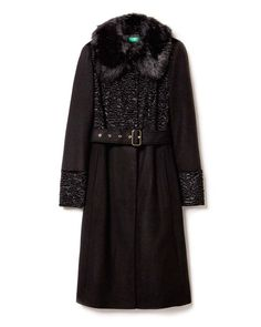 Benetton Coat with faux fur inserts