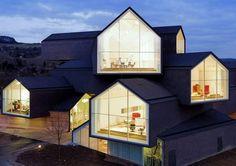 VitraHaus : un espace dexposition en maisons empilées en Allemagne par Herzog et de Meuron