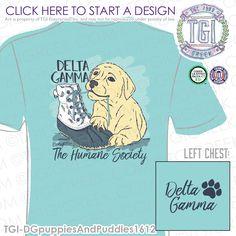 Delta Gamma | DG | ΔΓ | PR | Sorority Philanthropy | Puppy Philanthropy | Philanthropy Shirt | TGI Greek | Greek Apparel | Custom Apparel | Sorority Tee Shirts | Sorority Tanks | Sorority T-shirts
