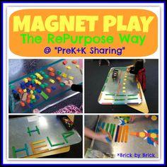 Magnet Play the RePurpose Way at PreK+K Sharing