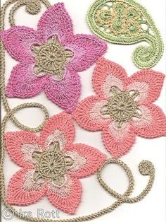 Love the colors! Crochet Patterns and A Great Love of Doilies.