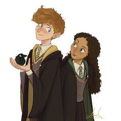 Just saw @abisept 's newest art then I decided to make 'em too, what a cute couple I guess 😊 #alizakusuma #fantasticbeasts…