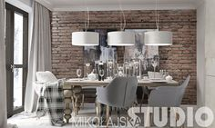 vintage style house – MIKOŁAJSKAstudio Dining Room, Dining Table, Living Room Inspiration, House In The Woods, Home Decor Styles, Living Spaces, Chandelier, House Design, Ceiling Lights