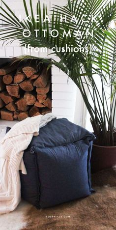 Poppytalk: IKEA Hack | Cushions Turn Ottoman