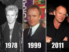 Sting through the years...time has been good to him :)