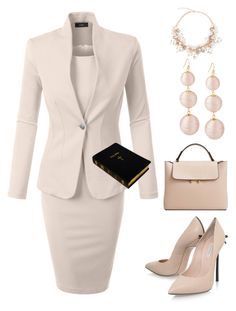 """""""Sunday"""" by bren-johnson ❤ liked on Polyvore featuring LE3NO, Casadei and MANGO"""