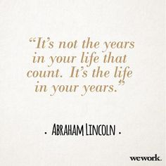 WeWork Inspirational Quote // Abraham Lincoln